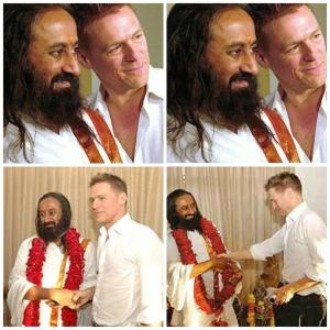 Bryan Adams with Sri Sri Ravi Shankar