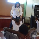 Dushyant Savadia teaching the Art of Living course to Prison inmates in Jamaica