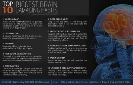 Habits that can damage the brain!
