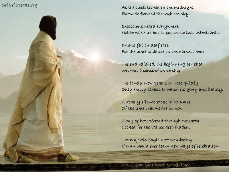 New Year Art Of Living Sri Sri Ravi Shankar And My Self