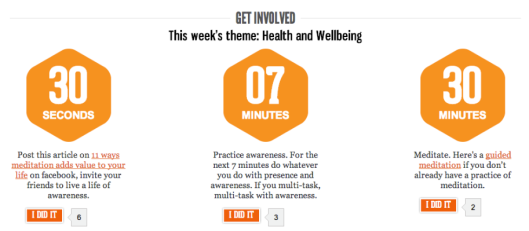 The theme for Pre-Campaign week 3 is HEALTH and WELL BEING!