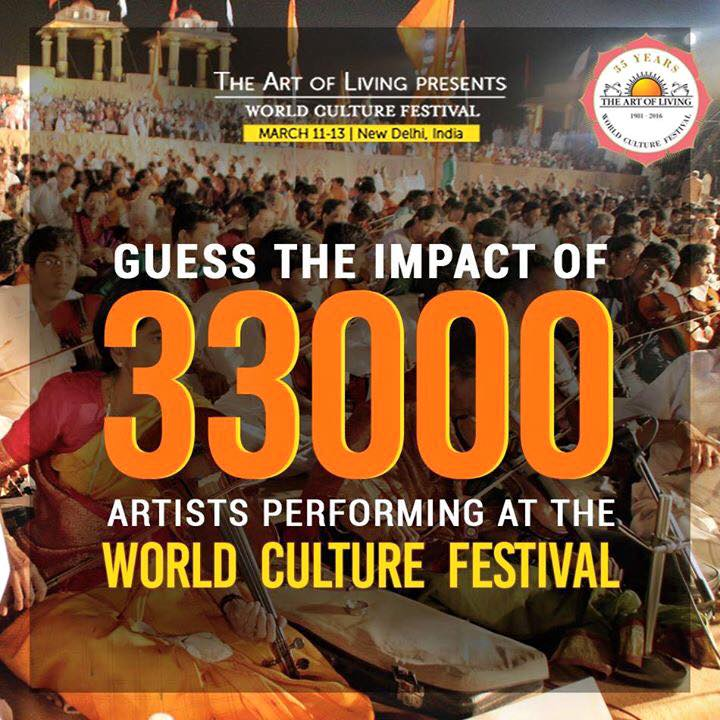 33000 artists to perform in wcf art of living sri sri ravi
